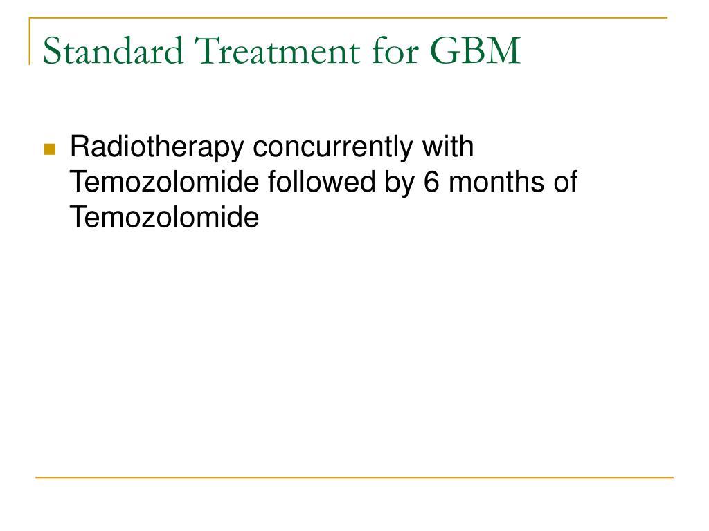 Standard Treatment for GBM
