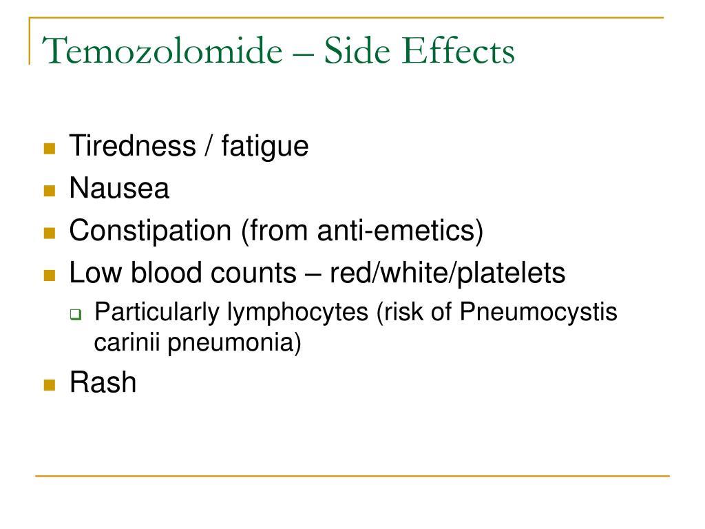Temozolomide – Side Effects