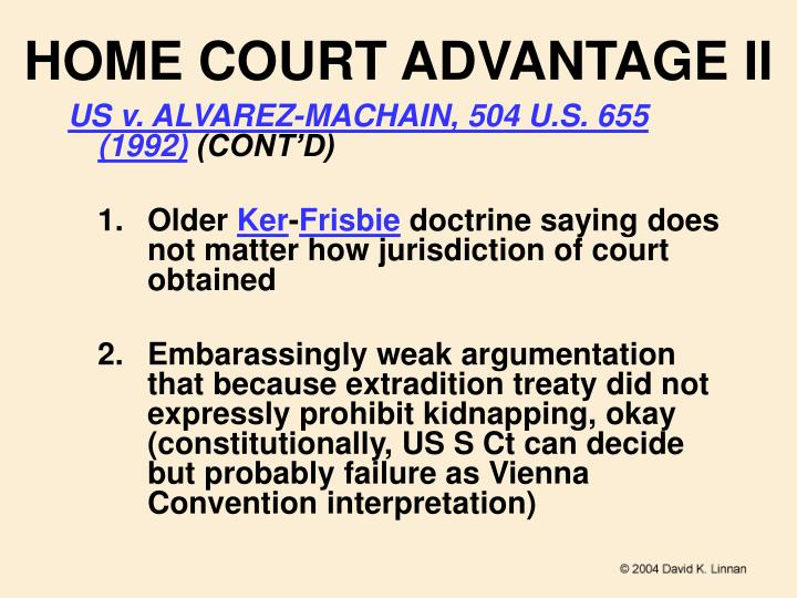 HOME COURT ADVANTAGE II