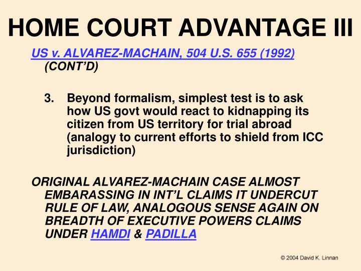 HOME COURT ADVANTAGE III