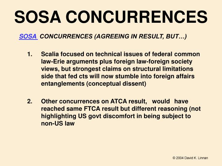 SOSA CONCURRENCES
