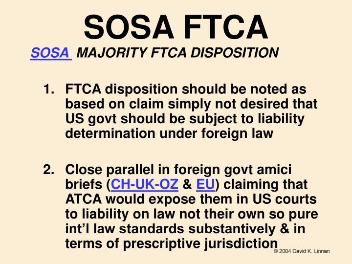 SOSA FTCA