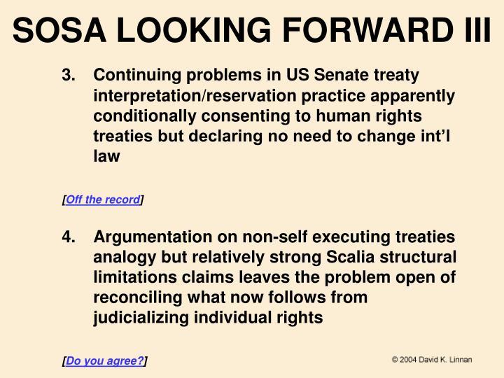 SOSA LOOKING FORWARD III