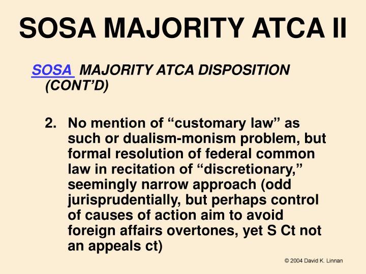 SOSA MAJORITY ATCA II