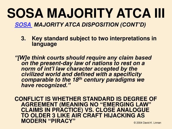 SOSA MAJORITY ATCA III