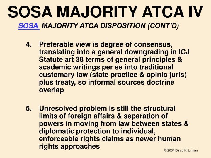SOSA MAJORITY ATCA IV
