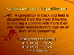 qualification and disqualification48