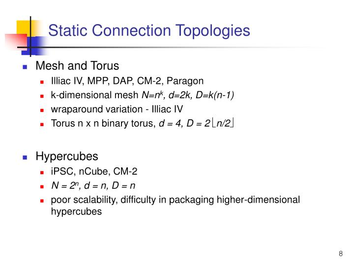 Static Connection Topologies