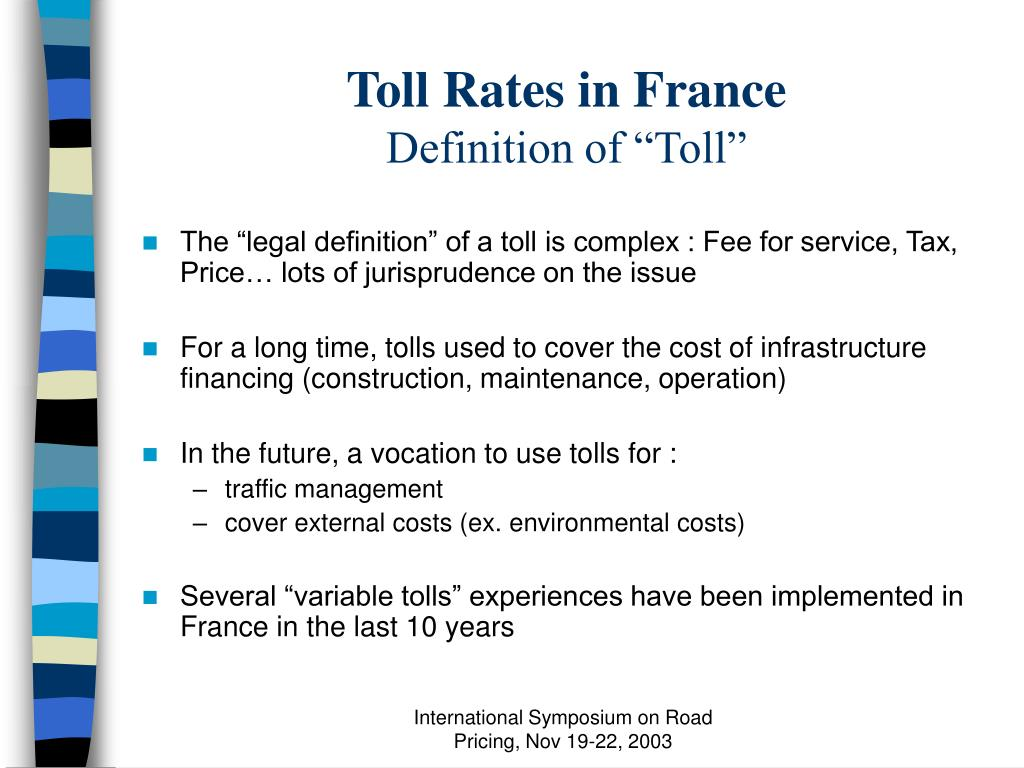 Toll Rates in France