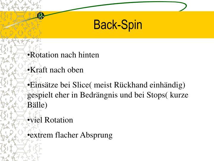 Back-Spin