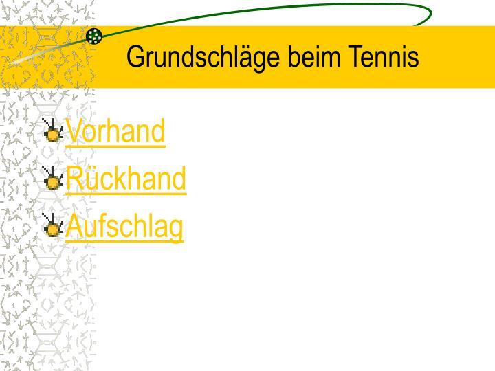 Grundschläge beim Tennis