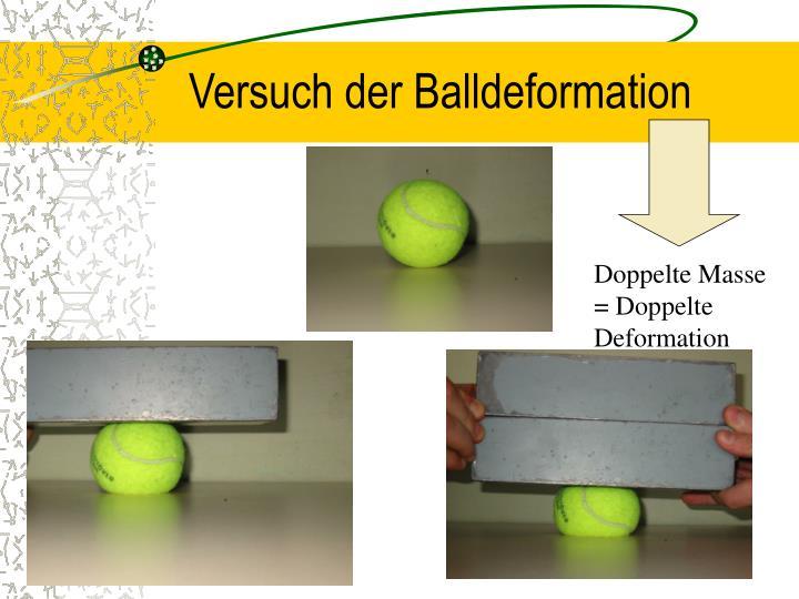 Versuch der Balldeformation