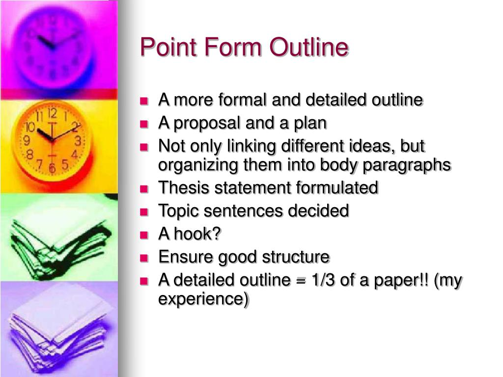 Point Form Outline