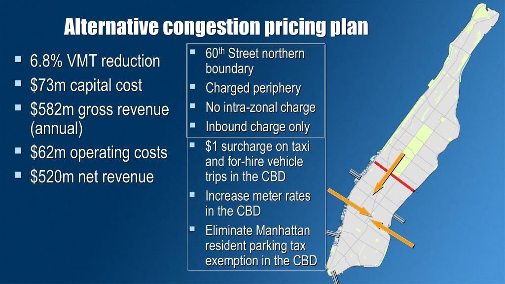 Alternative congestion pricing plan