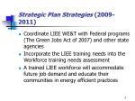 strategic plan strategies 2009 2011