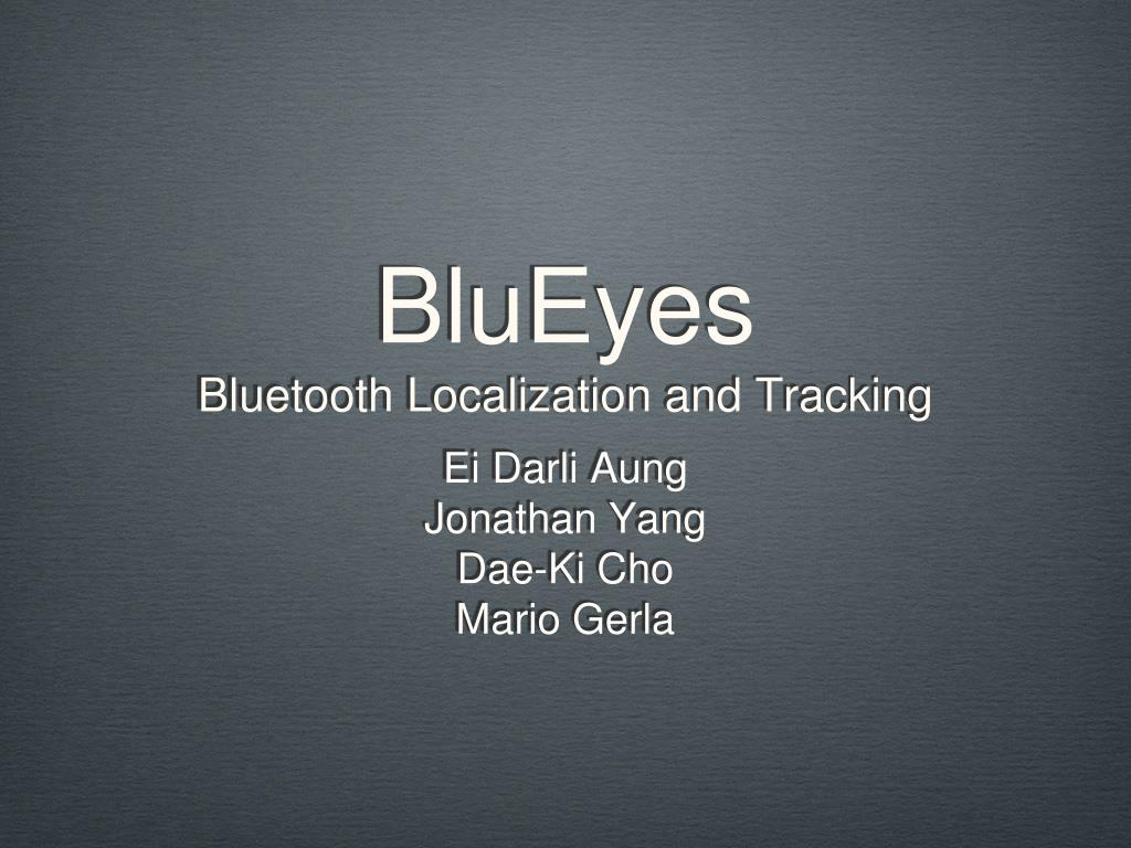blueyes bluetooth localization and tracking