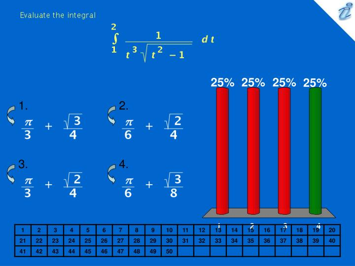 Evaluate the integral image