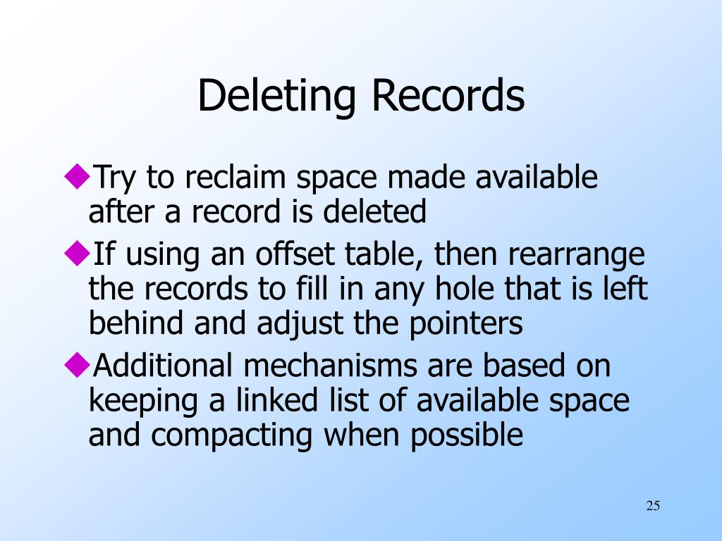 Deleting Records