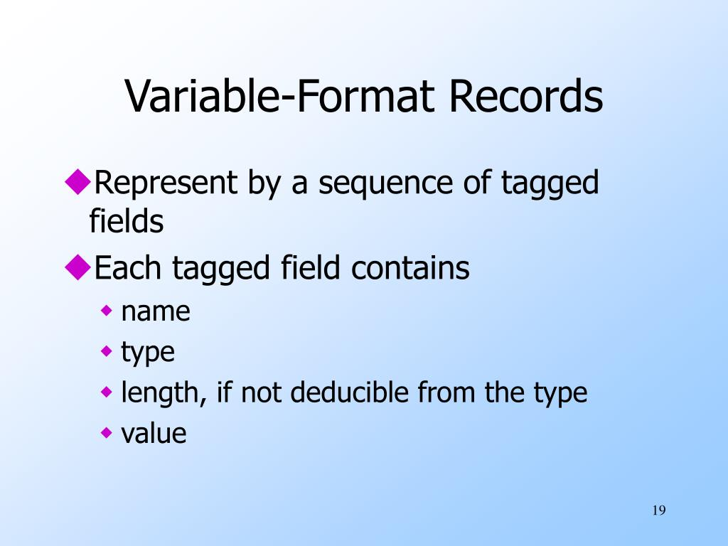 Variable-Format Records