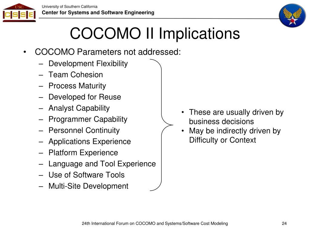 COCOMO II Implications