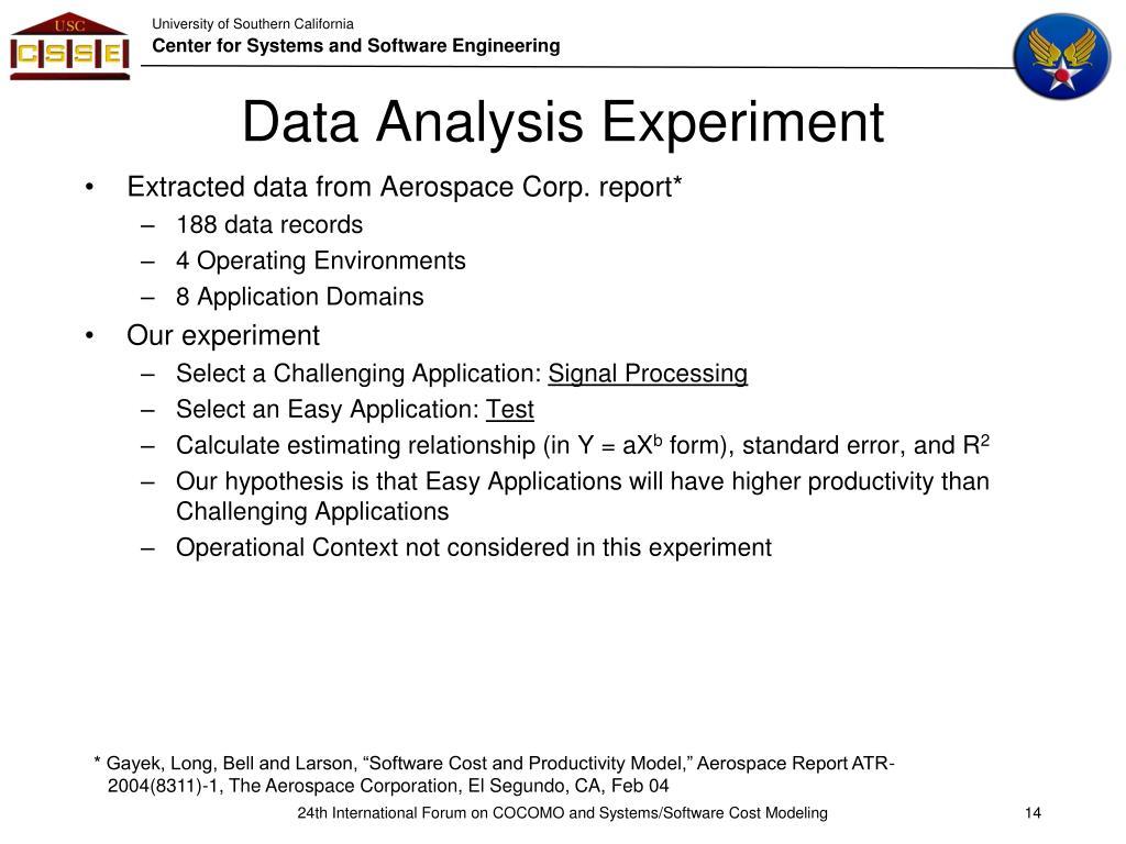 Data Analysis Experiment