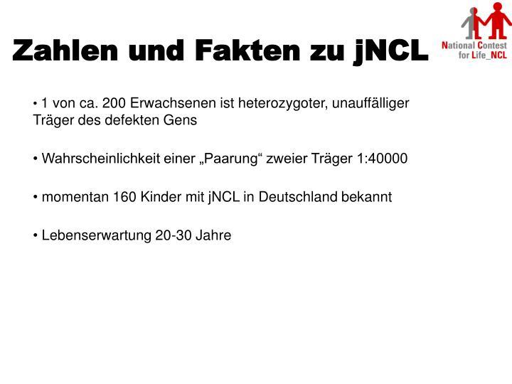 Zahlen und Fakten zu jNCL