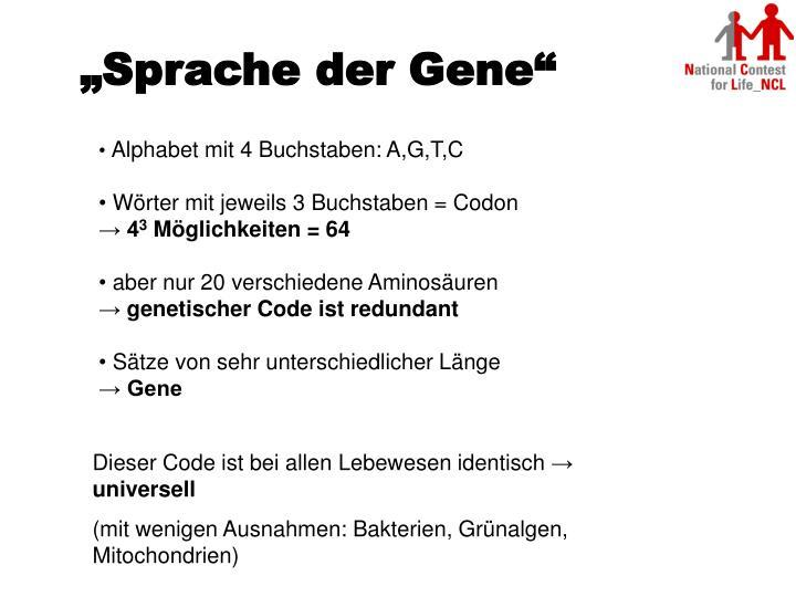 """""""Sprache der Gene"""""""
