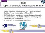 omii open middleware infrastructure institute