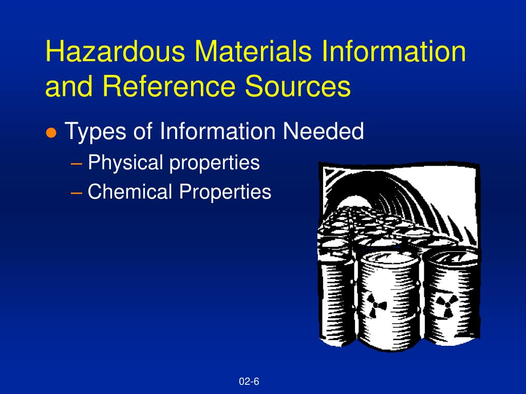 Hazardous Materials Information and Reference Sources