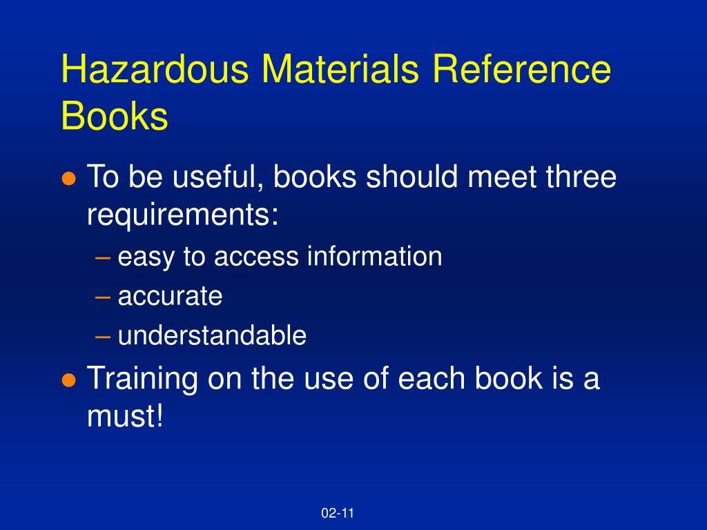 Hazardous Materials Reference Books