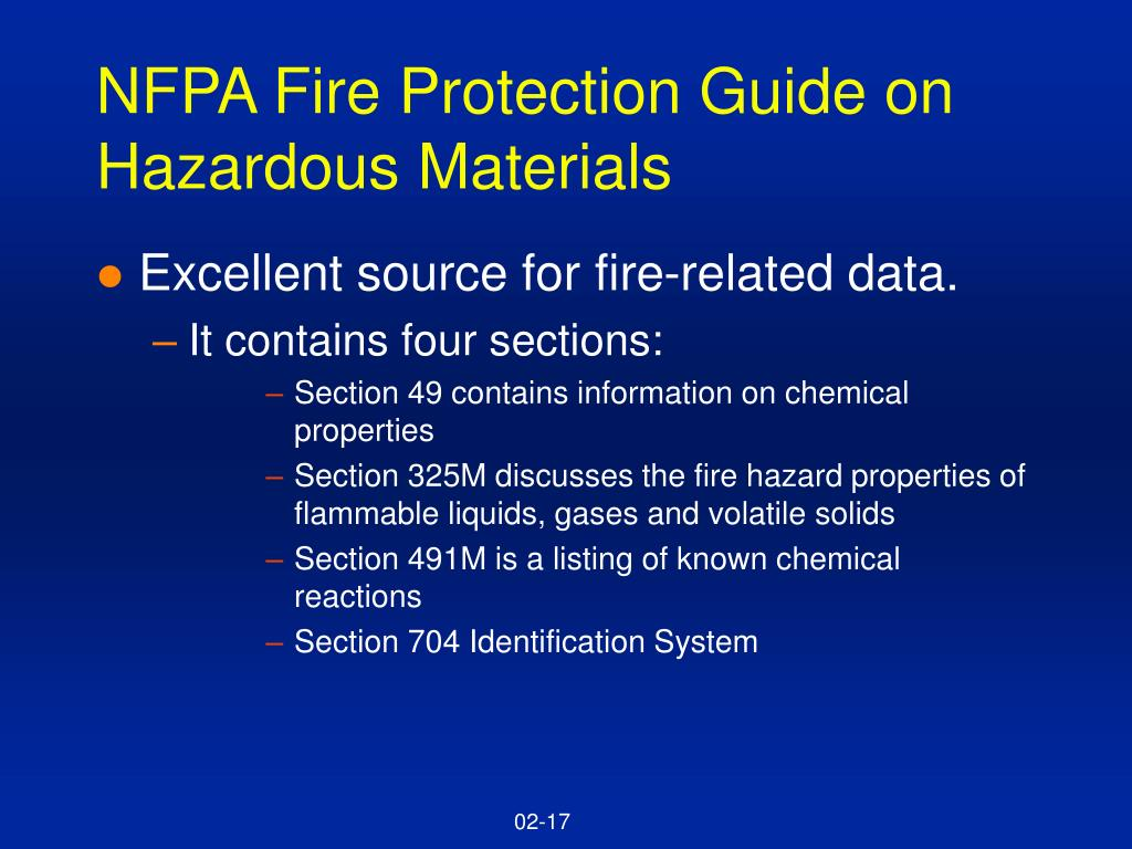 NFPA Fire Protection Guide on Hazardous Materials