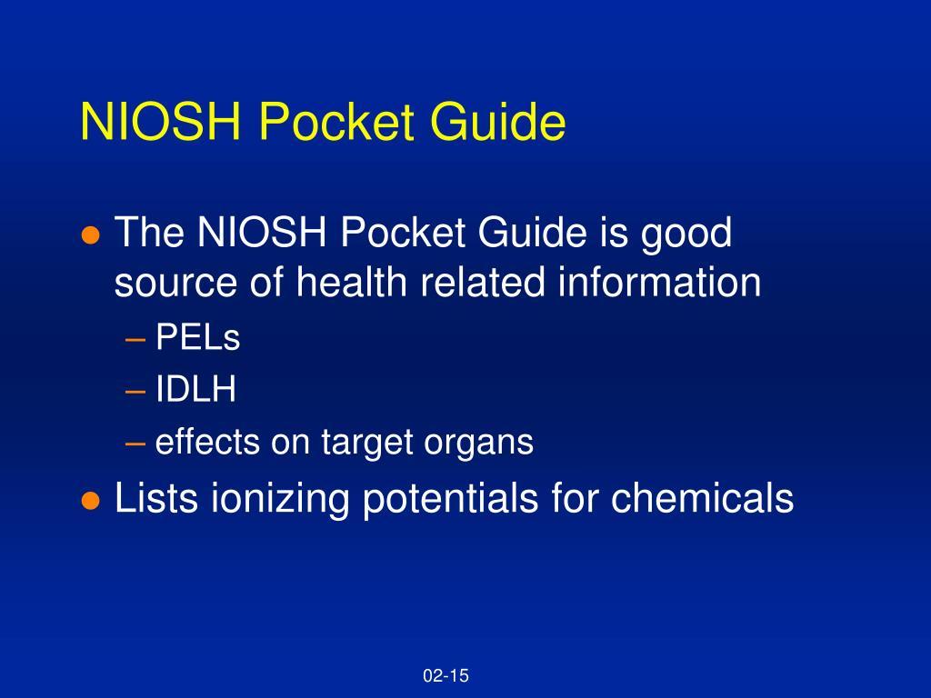 NIOSH Pocket Guide