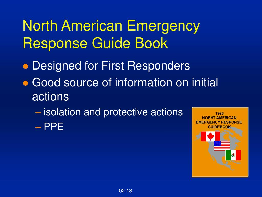 North American Emergency Response Guide Book