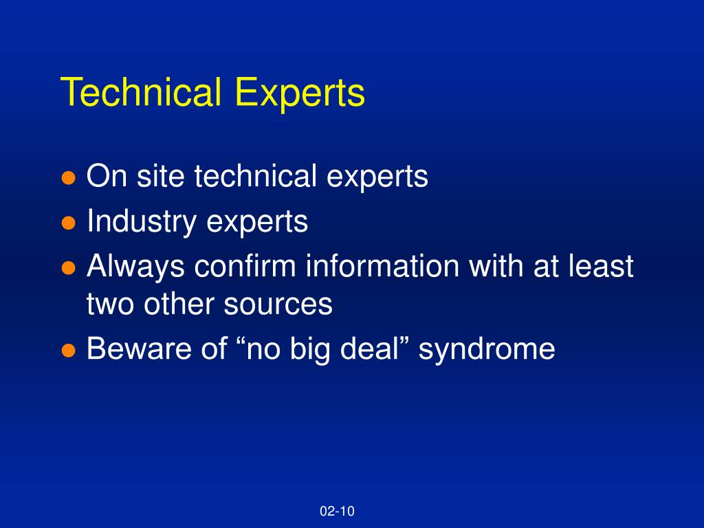 Technical Experts