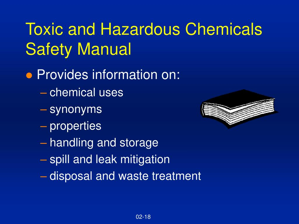 Toxic and Hazardous Chemicals Safety Manual