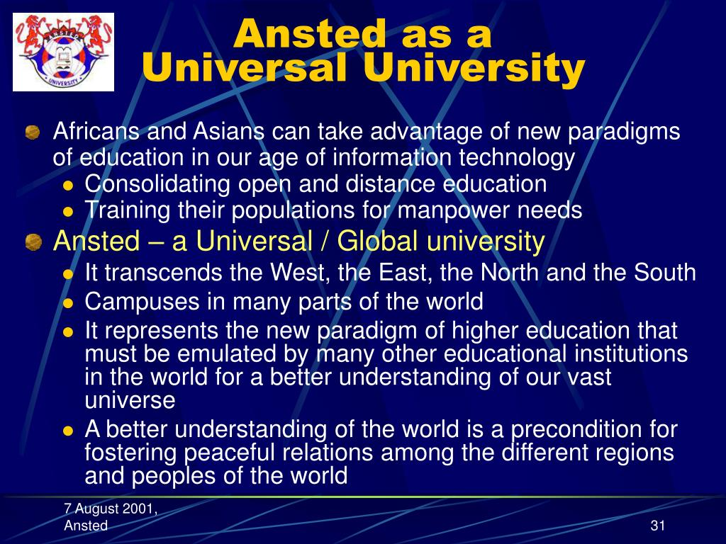 Ansted as a