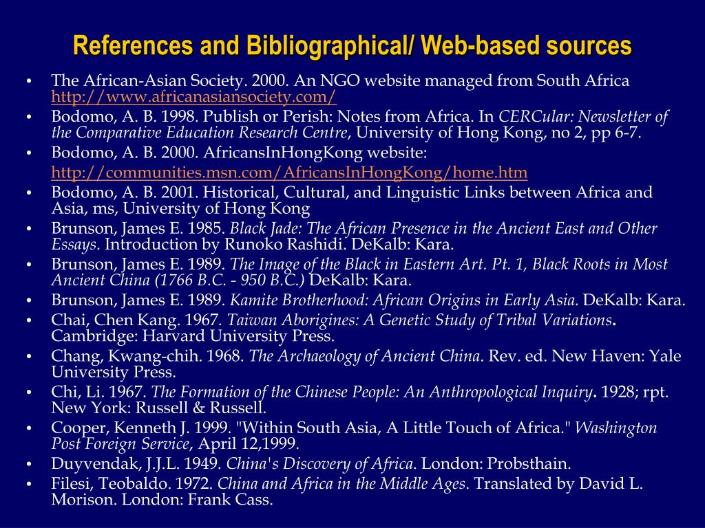 The African-Asian Society. 2000. An NGO website managed from South Africa