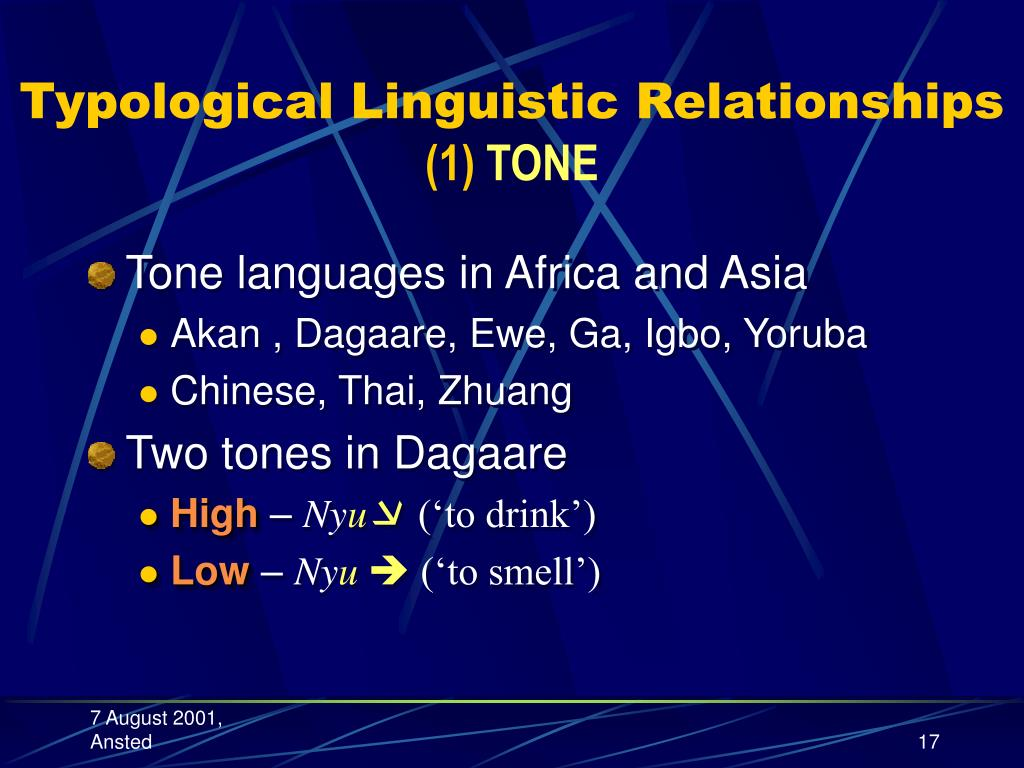 Typological Linguistic Relationships