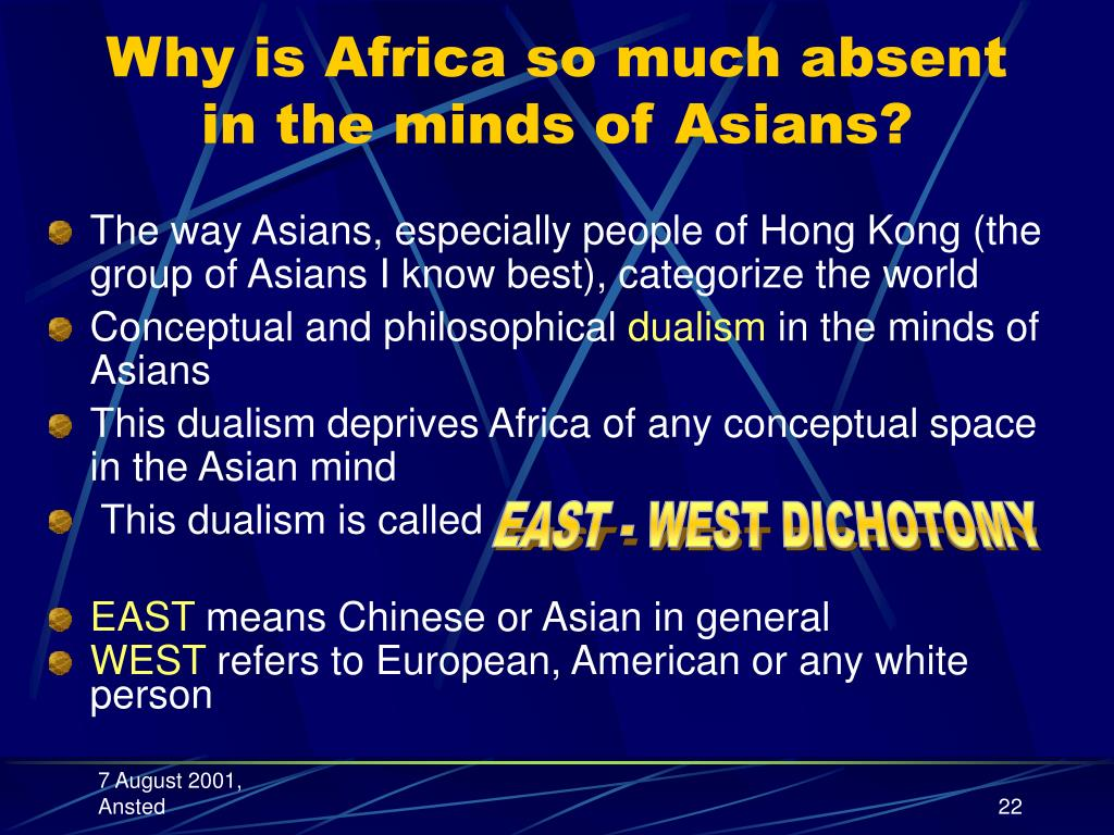Why is Africa so much absent in the minds of Asians?