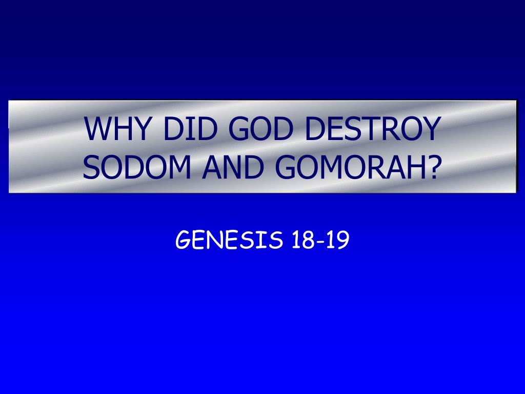 why did god destroy sodom and gomorah l.