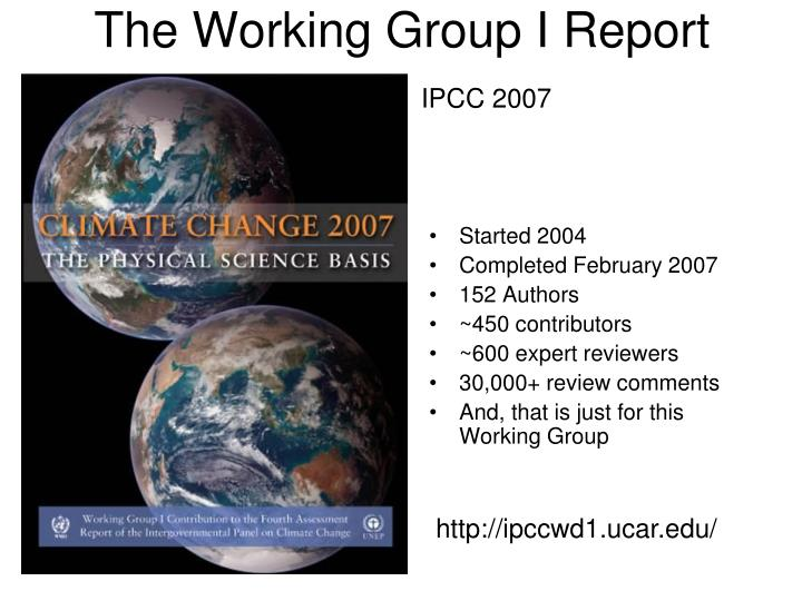 The Working Group I Report