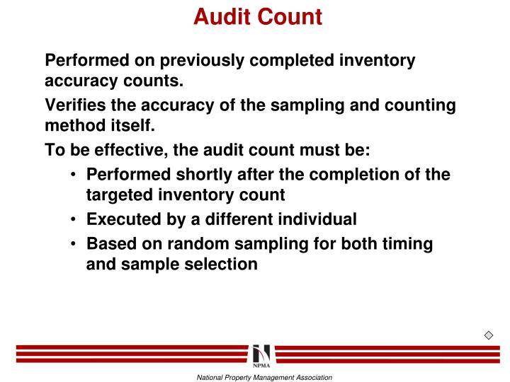 Audit Count