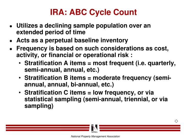 IRA: ABC Cycle Count