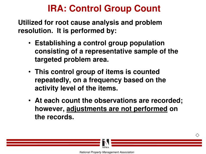 IRA: Control Group Count
