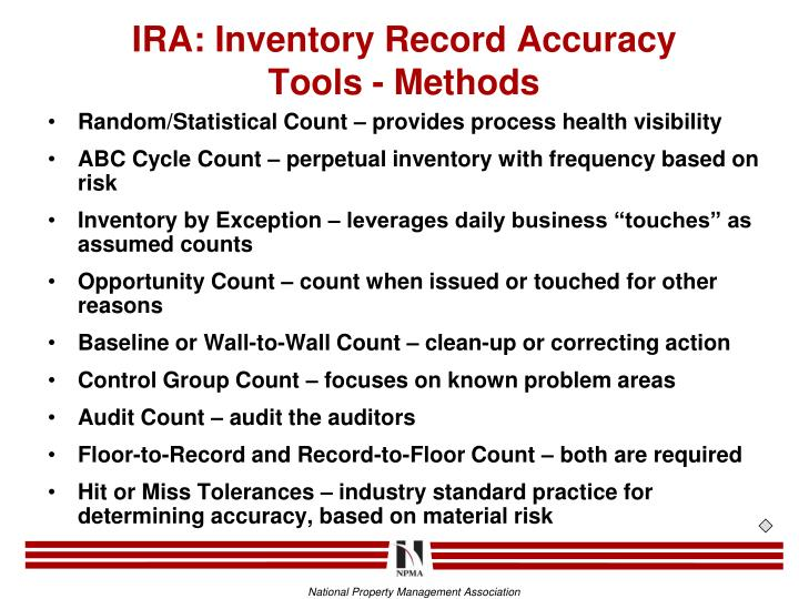 IRA: Inventory Record Accuracy