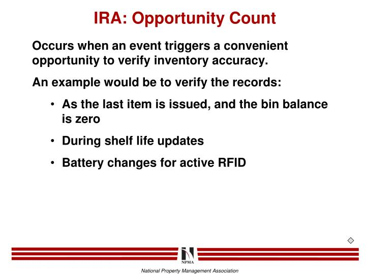IRA: Opportunity Count