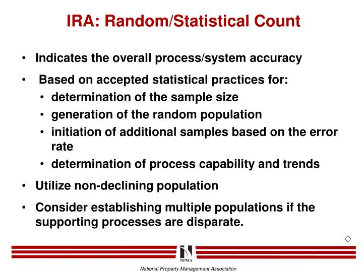 IRA: Random/Statistical Count