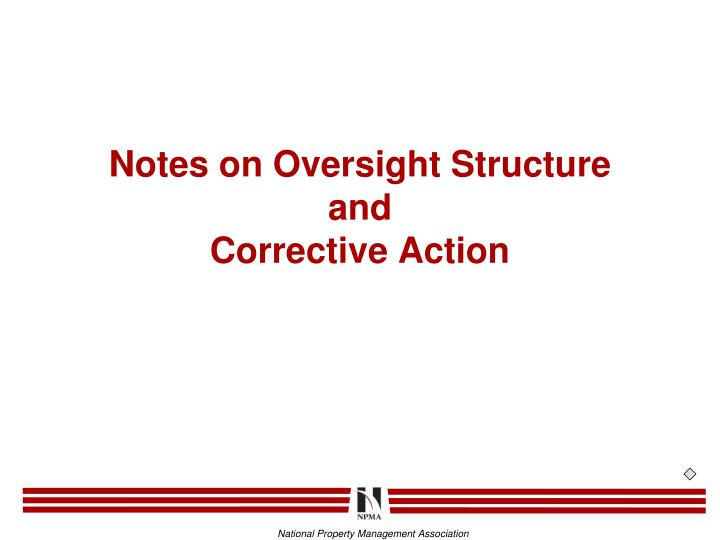 Notes on Oversight Structure
