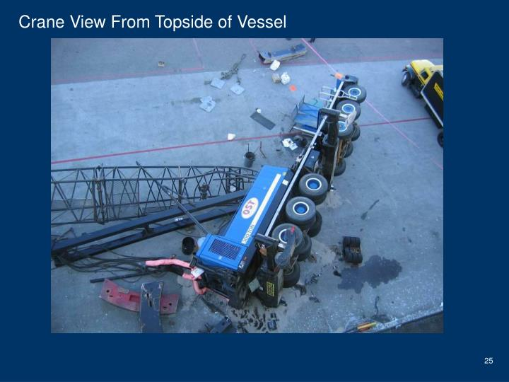 Crane View From Topside of Vessel