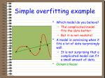 simple overfitting example